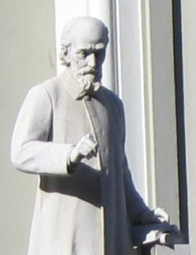 Statue of Andrew Murray with broken forefinger in front of Groote Kerk Cape Town