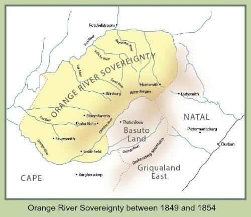 Orange River Sovereignty between 1849 and 1854
