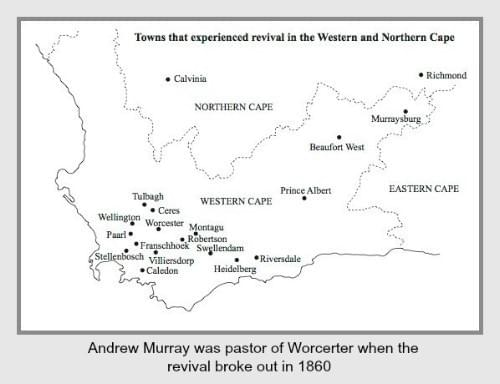 Towns in the Western Cape that experienced revival in 1860/61