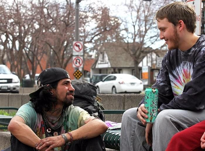 talking with someone experiencing homeless can give encouragement and hope