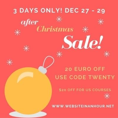 Website In An Hour Christmas Sale