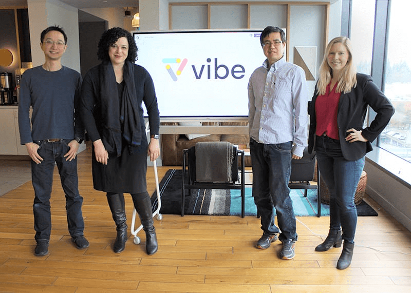 Vibe has created an interactive whiteboard. Photograph courtesy of Vibe.
