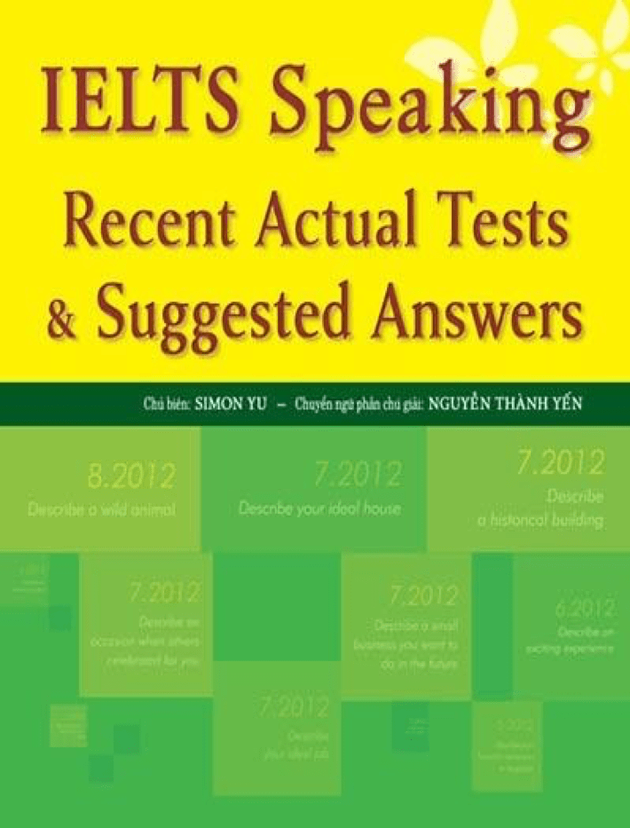 IELTS Speaking Recent Actual Tests