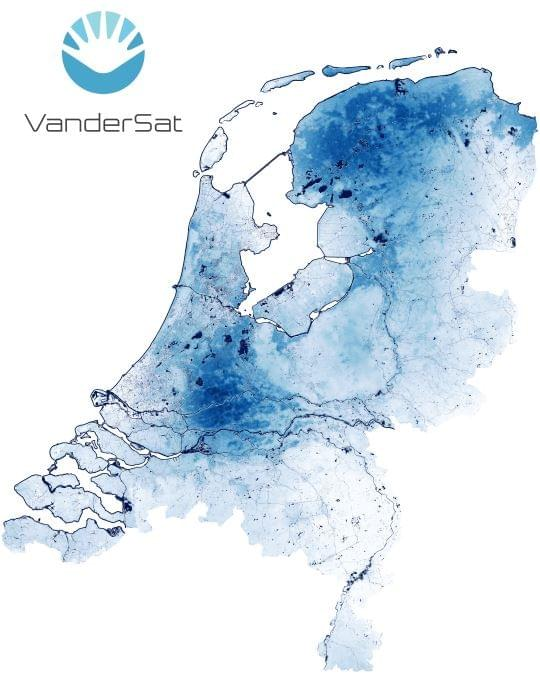 The Netherlands Soil Moisture and Waterways VanderSat