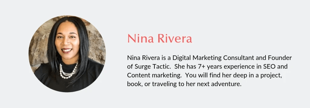 Bio for Nina Rivera Digital Marketing Consultant