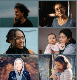 A collage of different women who could benefit from the Mothership Challenge