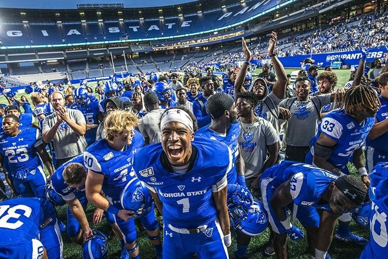 Georgia State University Homecoming winn over Arkansas State 52 to 38