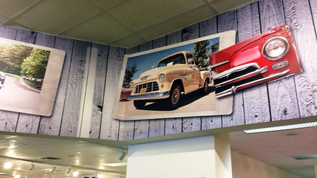 Classic Car Wall Mural  Close up