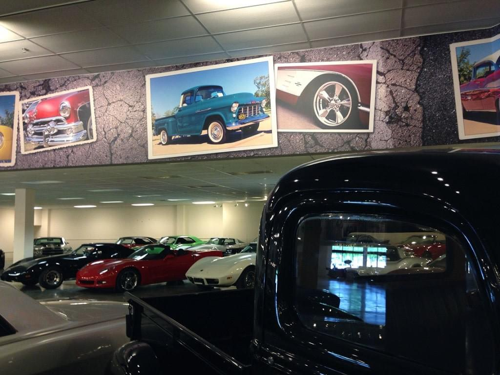 Primary Showroom Classic Car Wall Mural