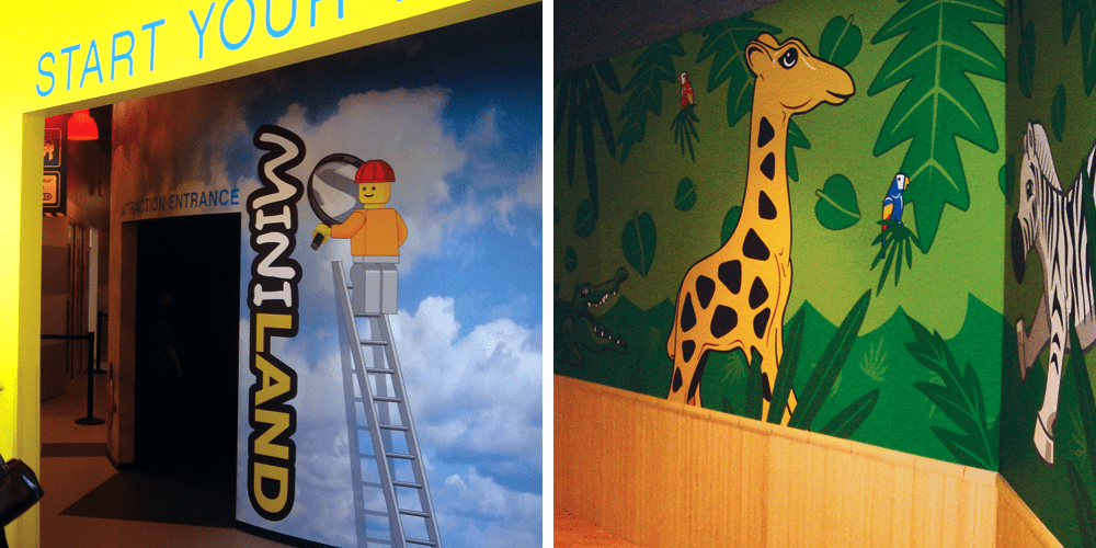 Special Room Wall Murals for Legoland Discovery Center