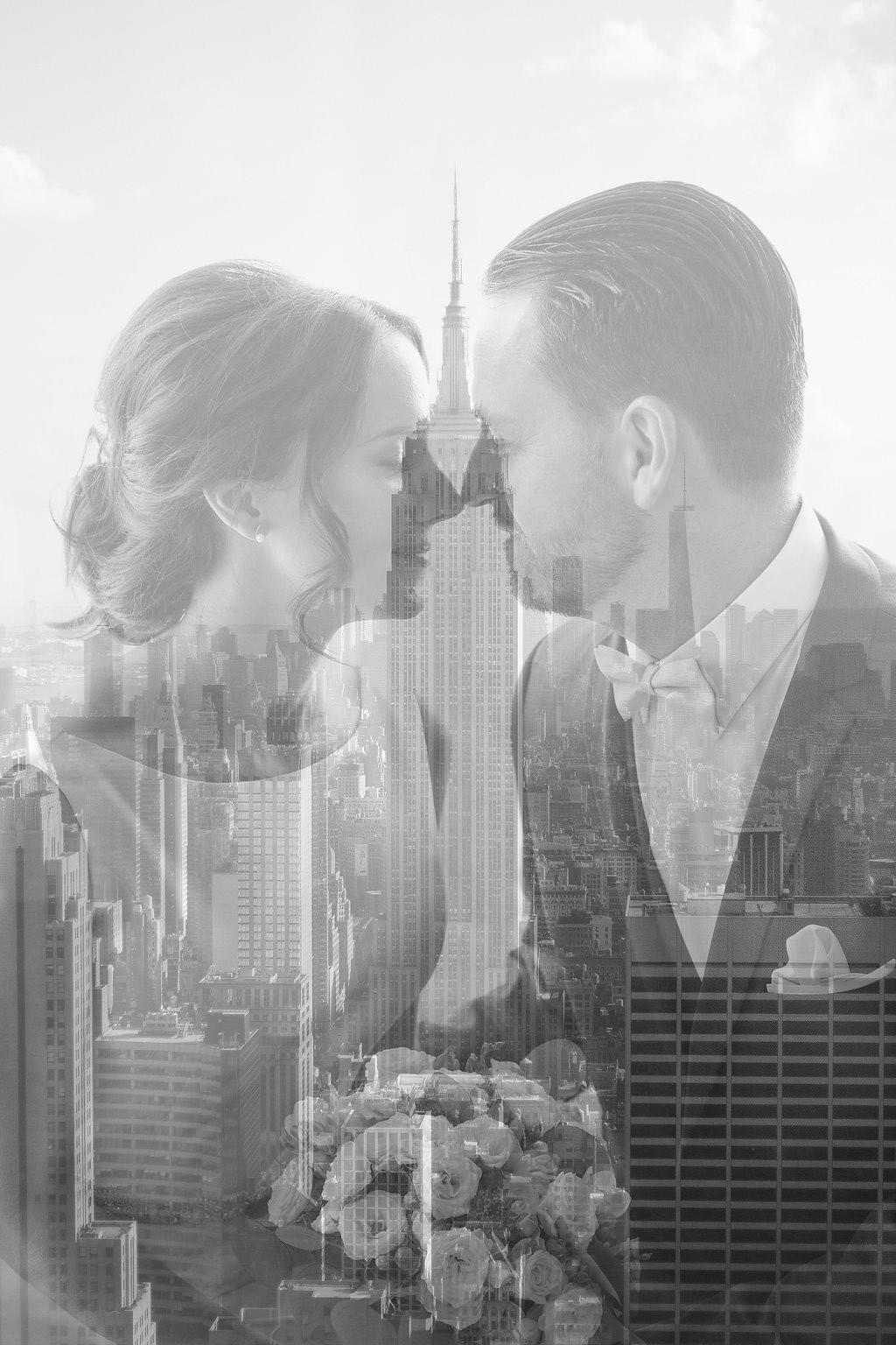Elopement photo / Elopement Central Park / New York Elopement photographer / Top of the Rock / Top of the Rock engagement photo