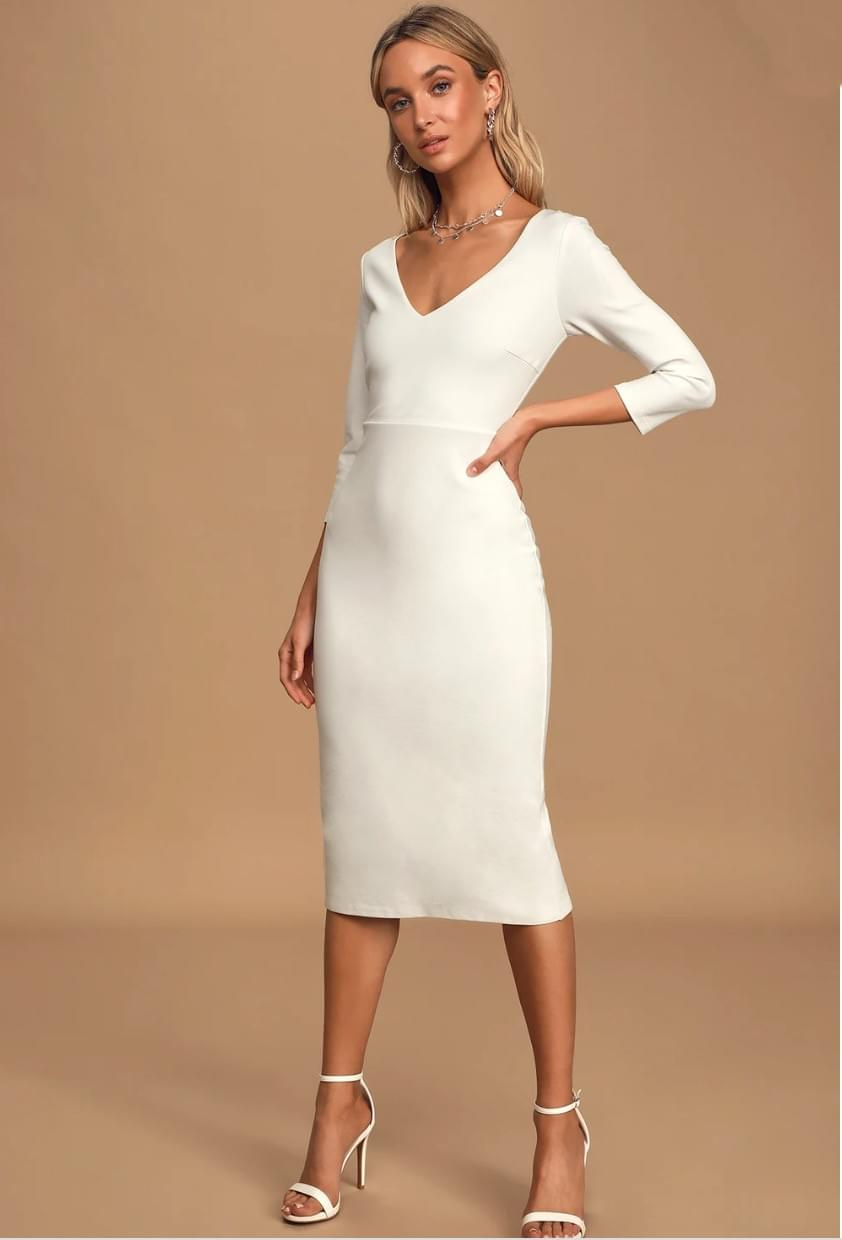 Lulus City Hall Wedding Dress