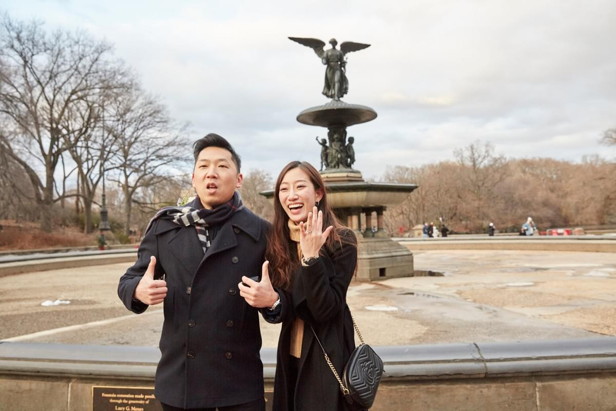驚喜求婚 / Central Park Surprise Proposal / New York Photographer / 紐約攝影師 / 求婚攝影師 / New York Central Park /  Bethesda Fountain