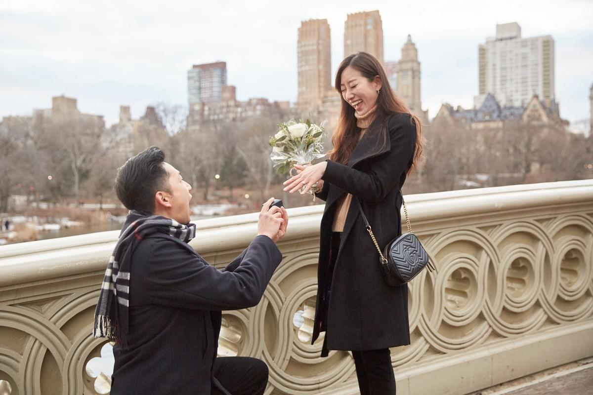 驚喜求婚 / Central Park Surprise Proposal / New York Photographer / 紐約攝影師 / 求婚攝影師 / New York Central Park /  Bow Bridge