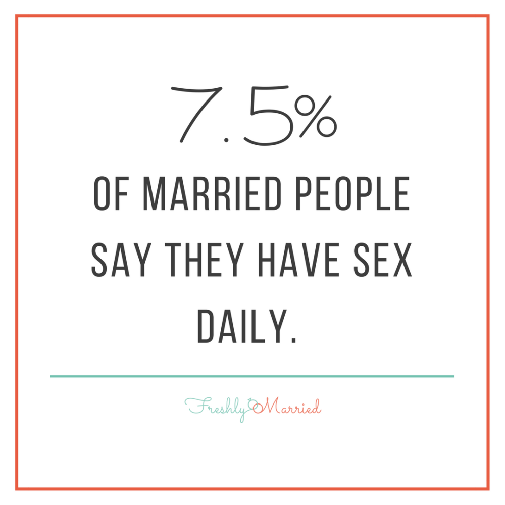 How often should newlyweds have sex