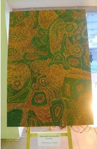 Some of the 15 beautiful Aboriginal Art pieces sponsored by Red Dot Gallery.