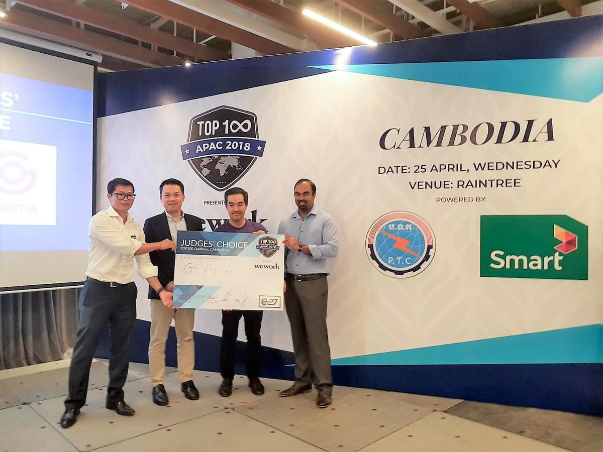 Goama CEO Taro Araya takes out Cambodia Top 100 Award.