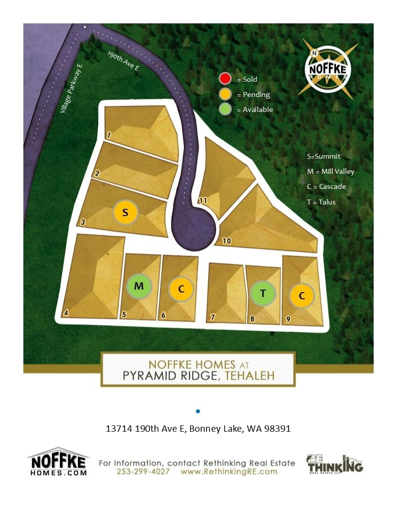 Lot availability map Noffke Homes