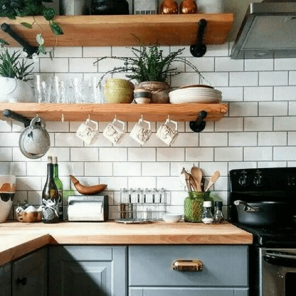 9 Industrial Pipe Shelves We Love