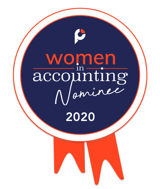 Top Women in Accounting Badge - 2020