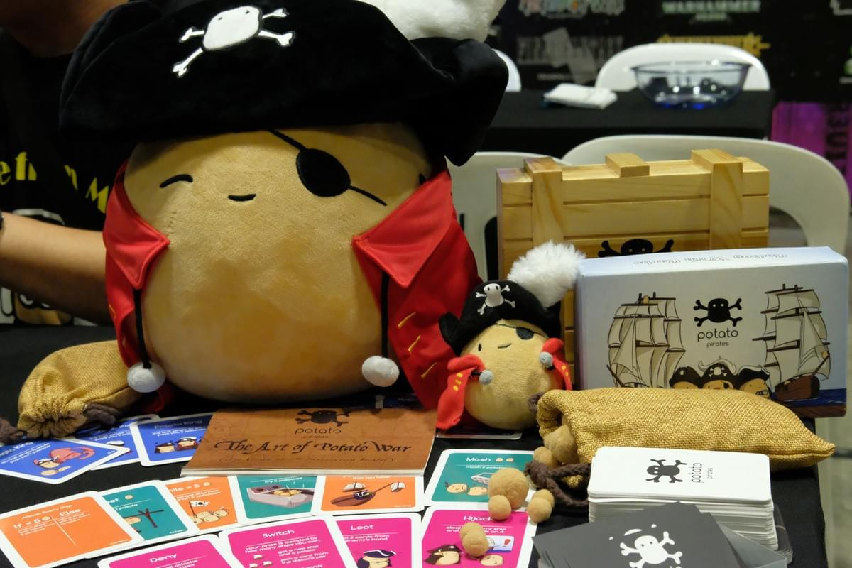 Potato King Plushies and Potato Pirates Card Game