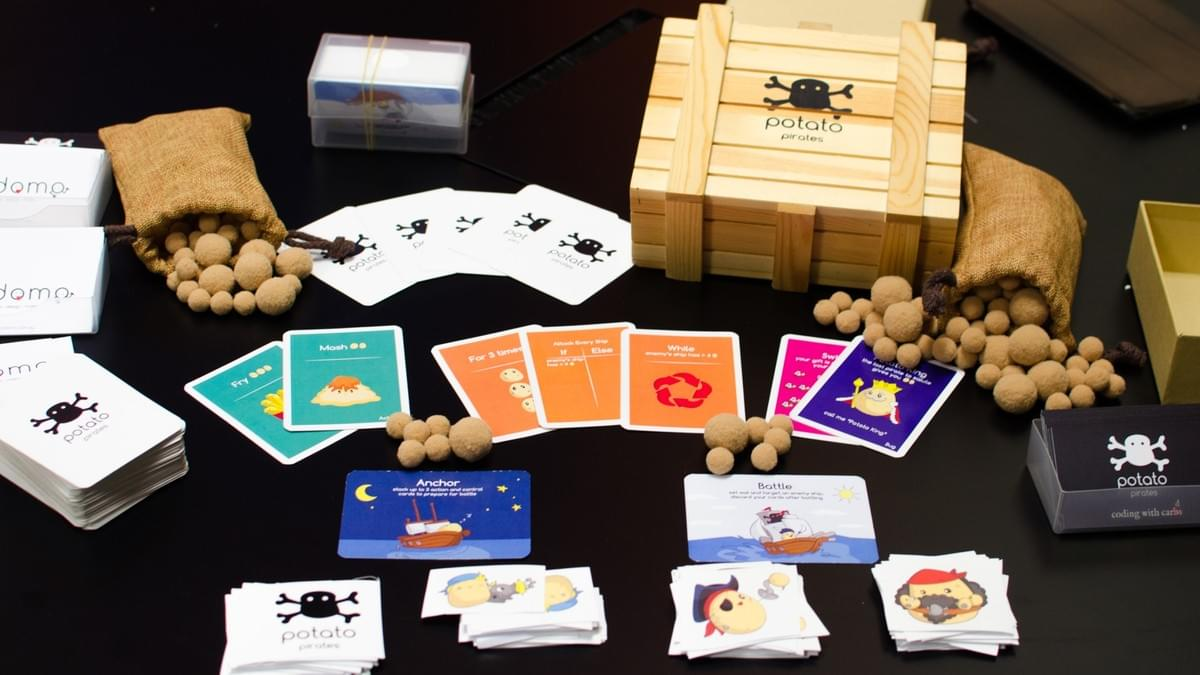 gamify STEM concepts using potato pirates card game