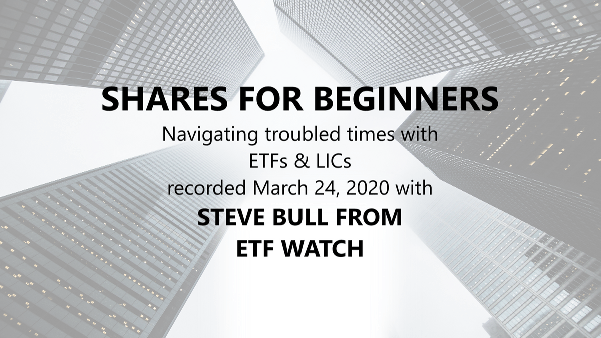 Steve Bull from ETF Watch