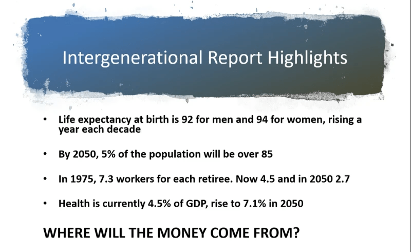 Intergenerational report highlights