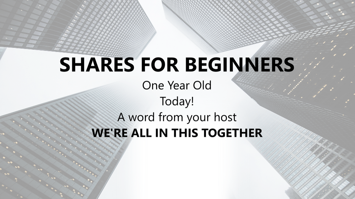 Shares for Beginners - First Birthday