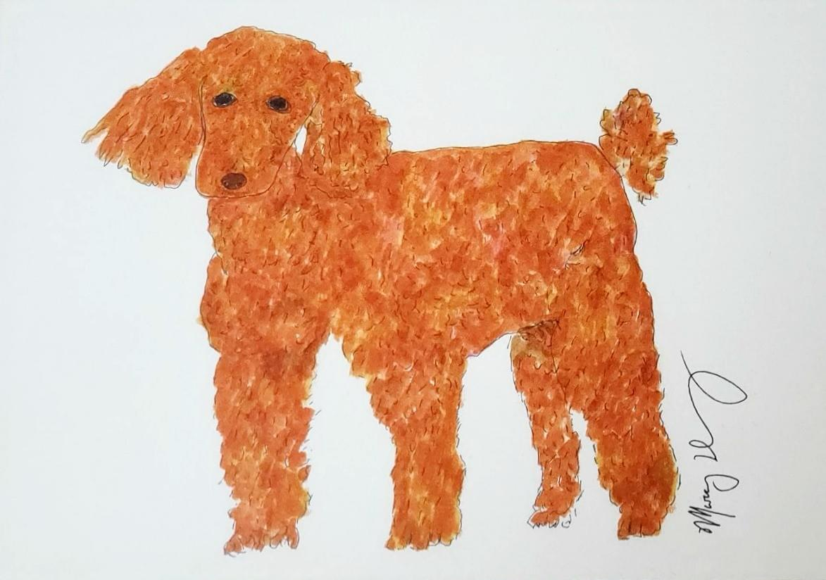 Painting of a dog.