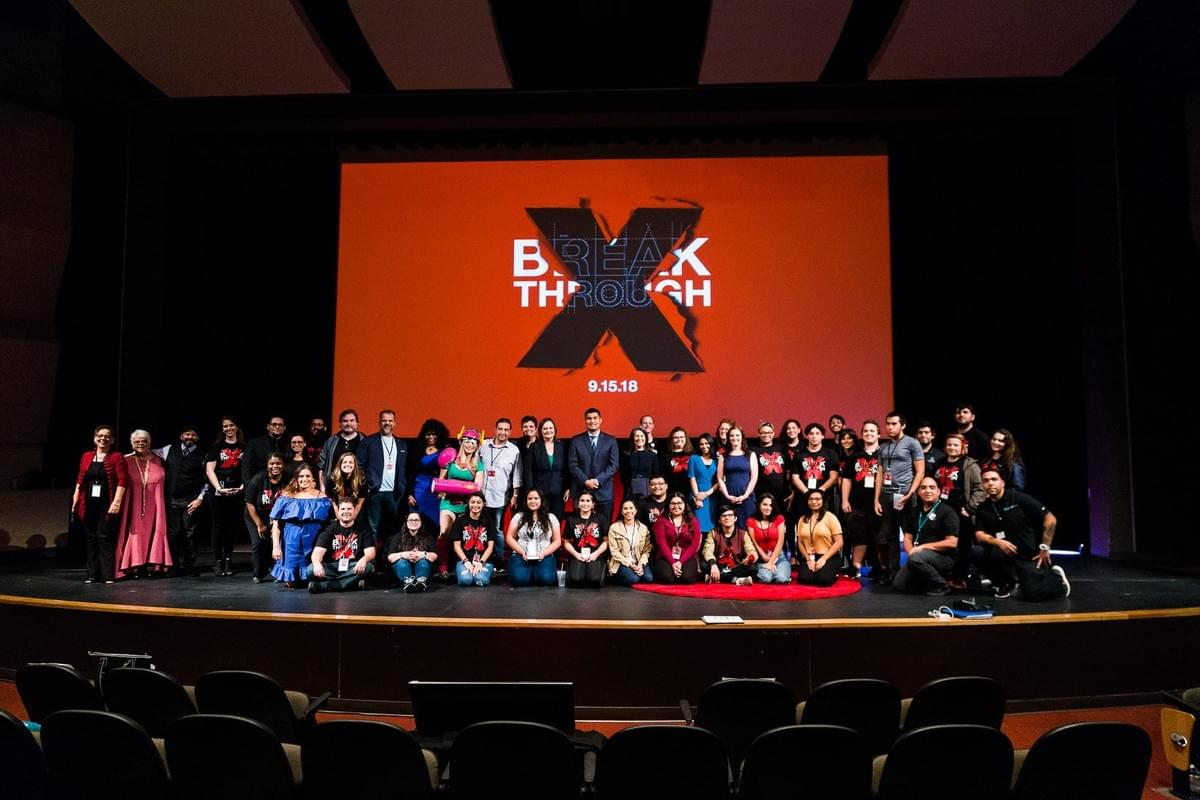 "TEDxPAC Team & Speakers, I'm next to""Supergirl"" Ana Ribeiro, Pixel Ripped 1989 RV game creator."