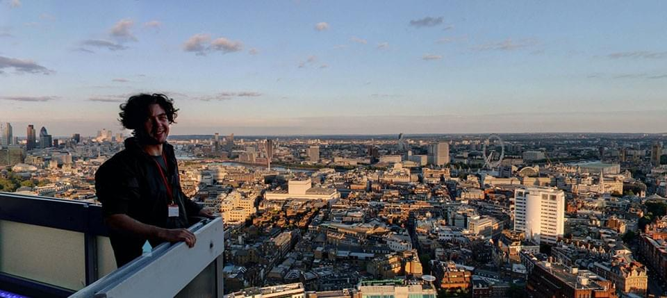 Jeffrey Martin-pioneer in 360 photography, in the skies of London to create the largest gigapixel photo in the world.