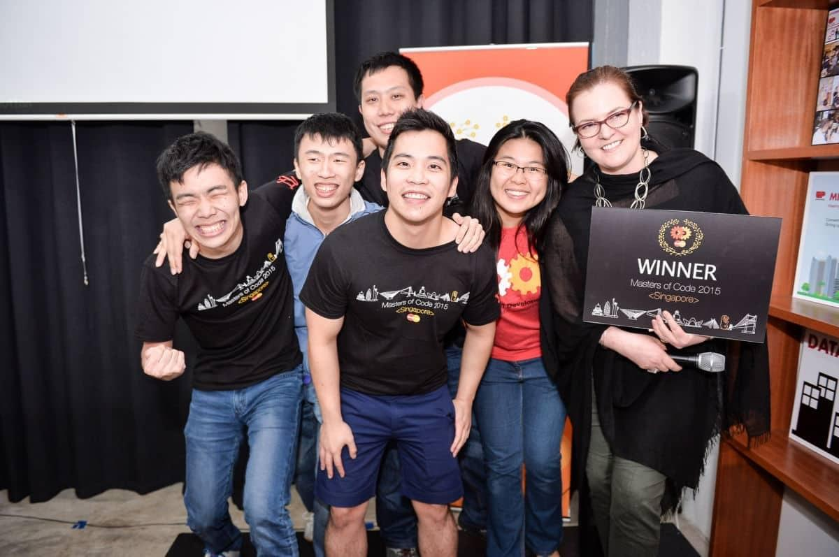 Image of Mastercard 2015 Singapore Masters of Code contest.