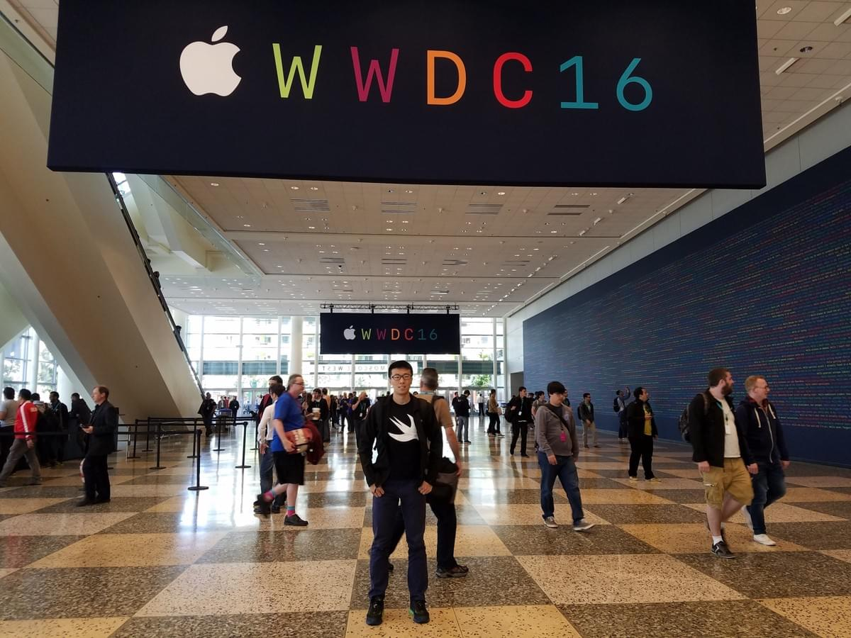 Me at Apple WWDC 2016