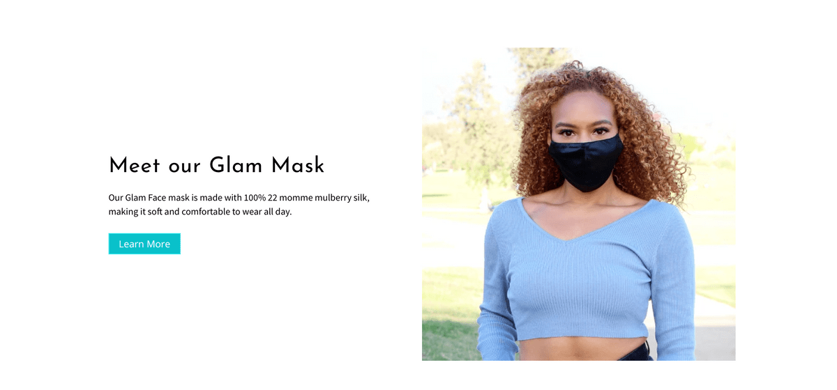100% Mulberry Silk face masks by Glam Sleep
