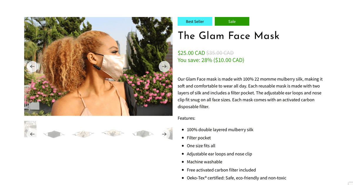 100% double layered mulberry silk face masks