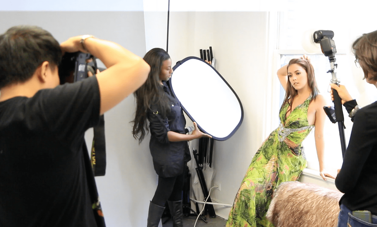 Miss Belize Universe Rebecca Rath shooting at Brazen Studios L.A.
