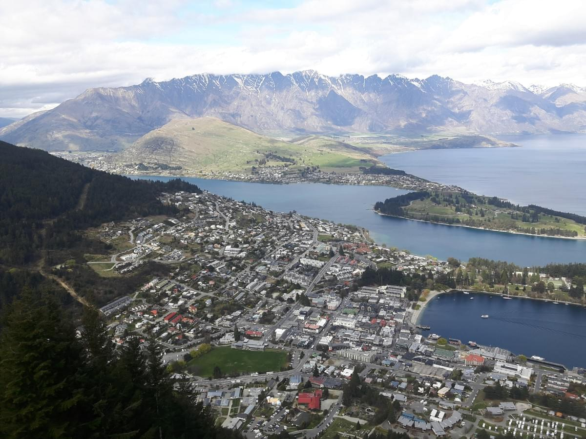 Bird's Eye View of Wakatipu Lake