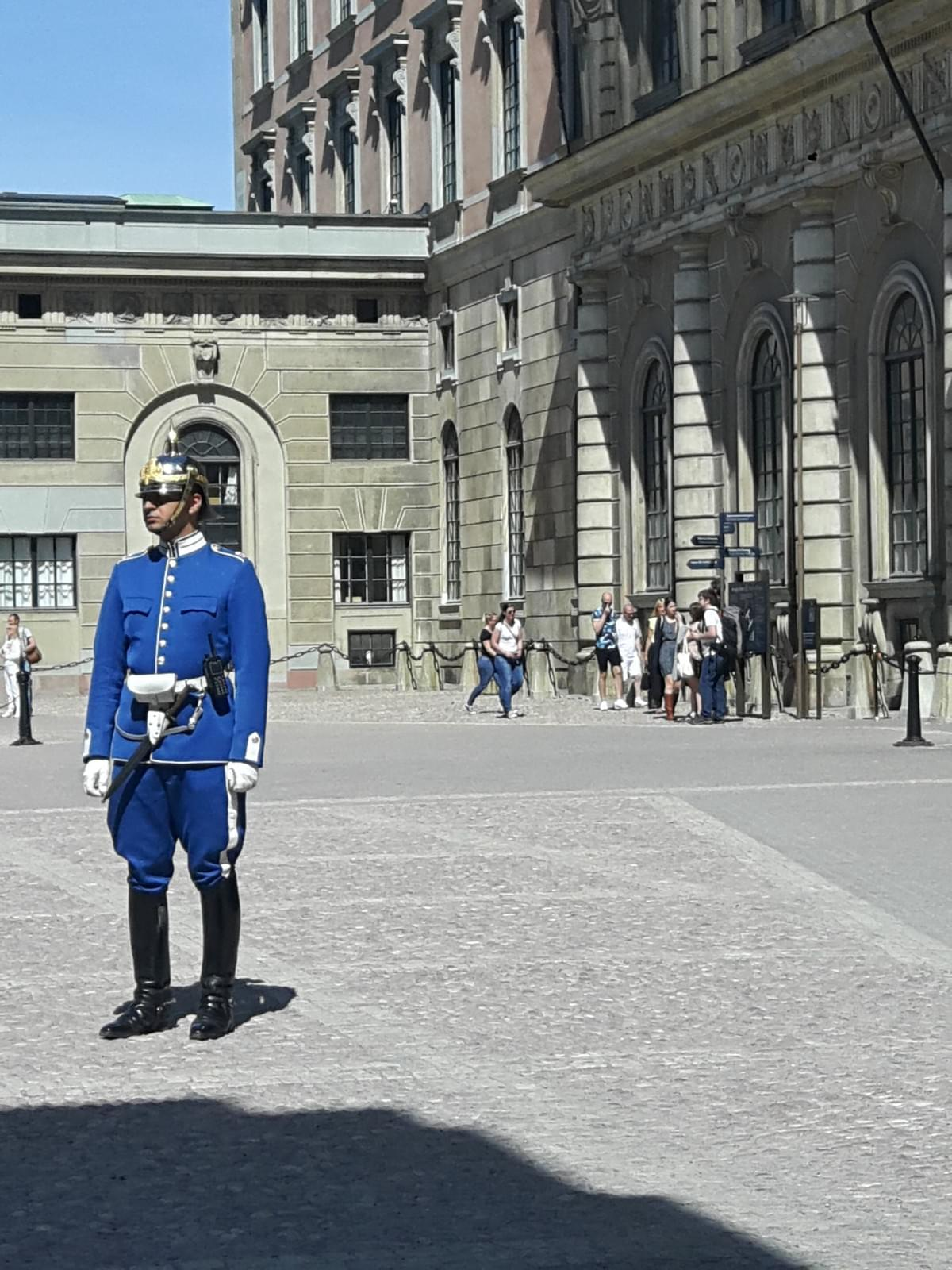Security Guard on Duty in Royal Palace at Stockholm