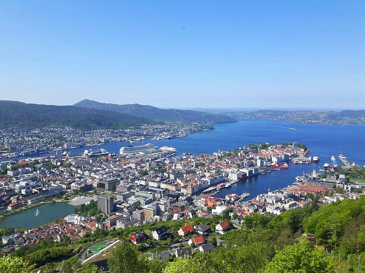 View of Bergen City from Floyen