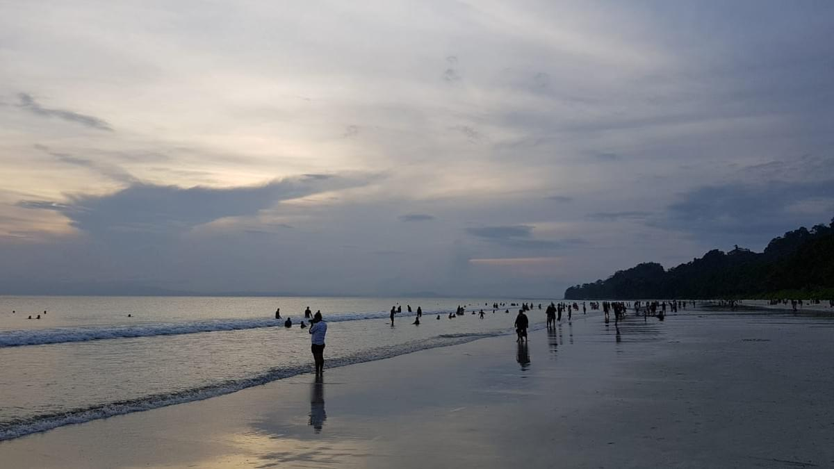 Radhanagar Beach. Places to Visit in Andaman. Image Source - Mitali's Travel Diary