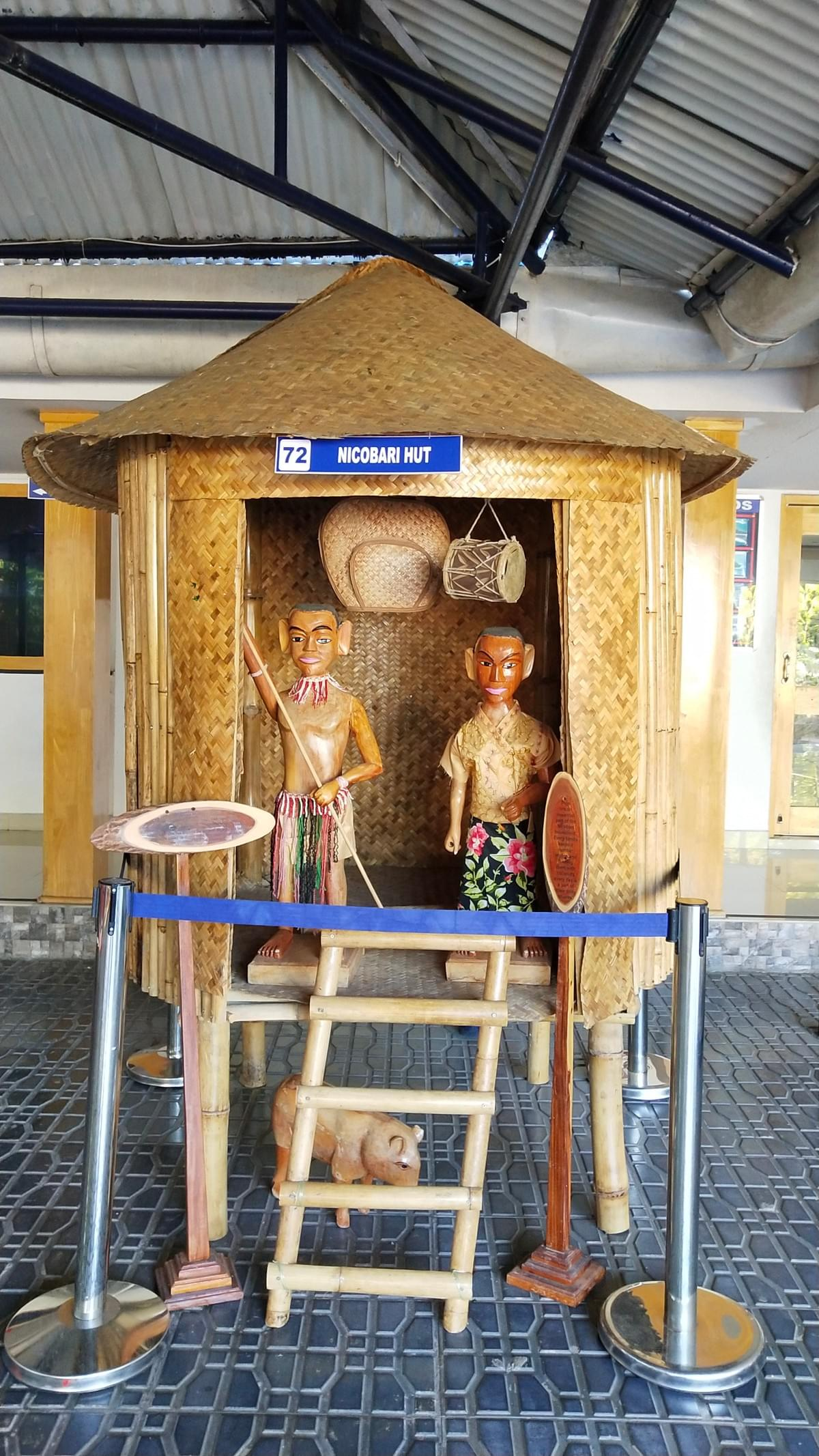 Nicobari Hut Representation at Samudrika Naval Museum. Places to Visit in Andaman. Image Source - Mitali's Travel Diary