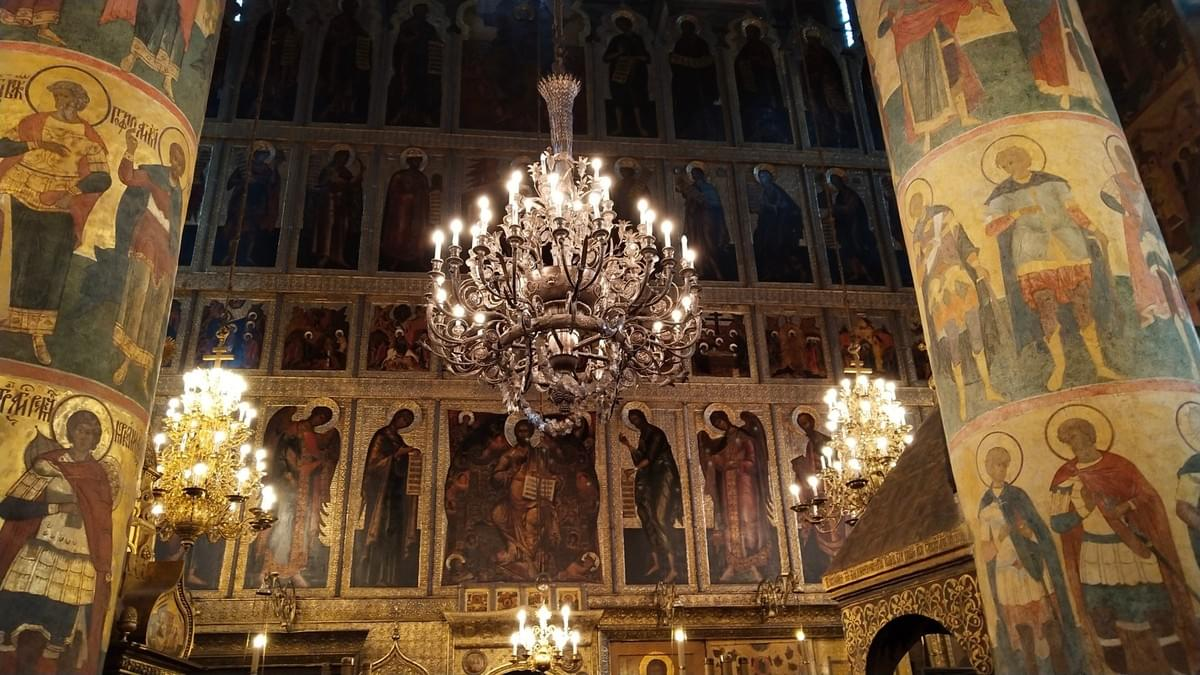 Inside the Cathedral at Kremlin Complex - Visit Moscow in 2 Days