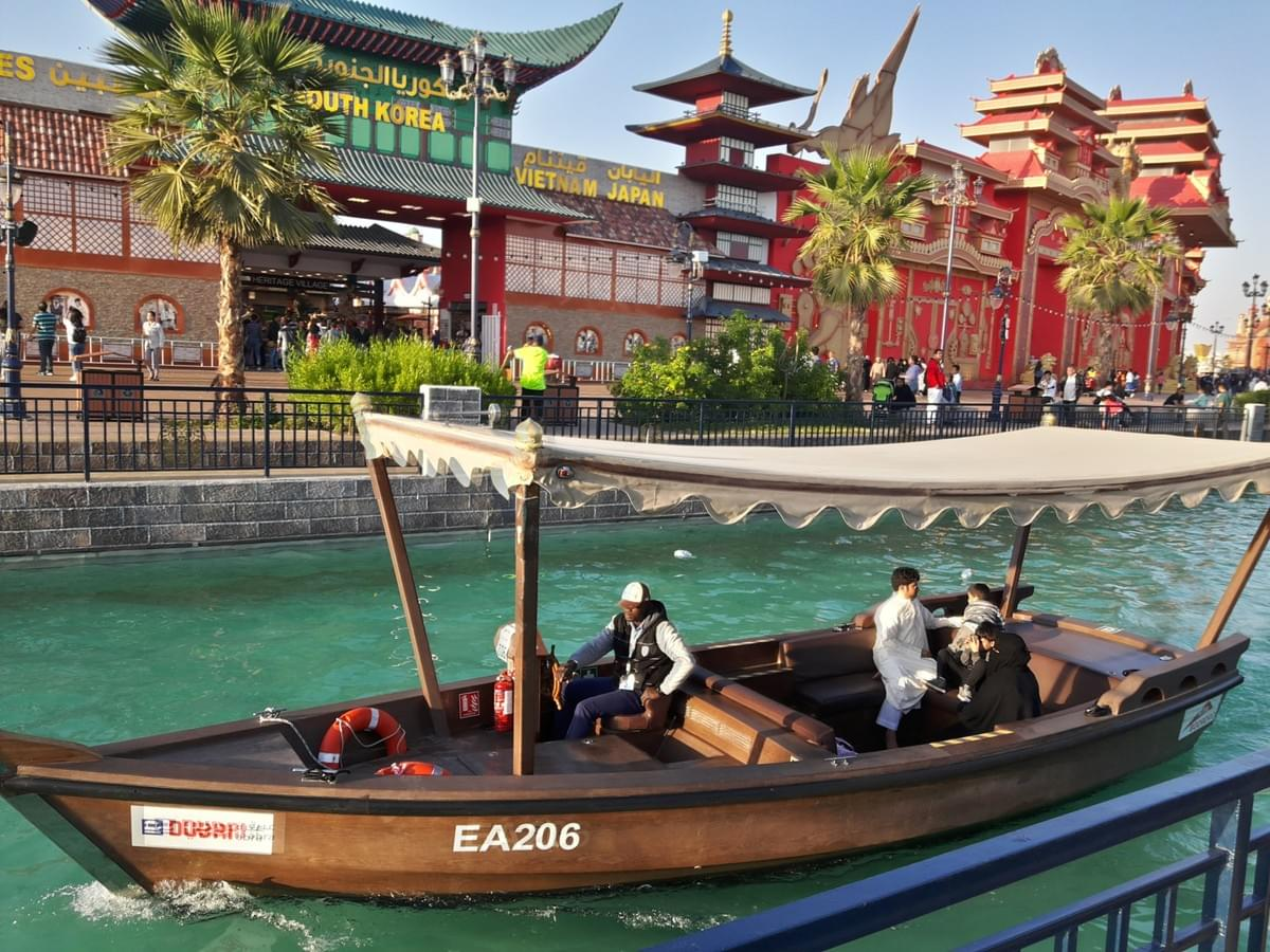 Boat ride at Global Village - Places to Visit in Dubai