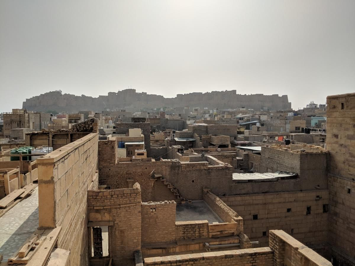 View from Golden Fort, Jaisalmer. Padharo Mhare Des JODHPUR-JAISALMER.