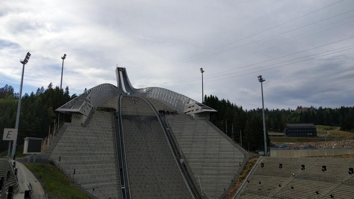 Places to Visit in Oslo - Front View of Holmenkollen Ski Jump