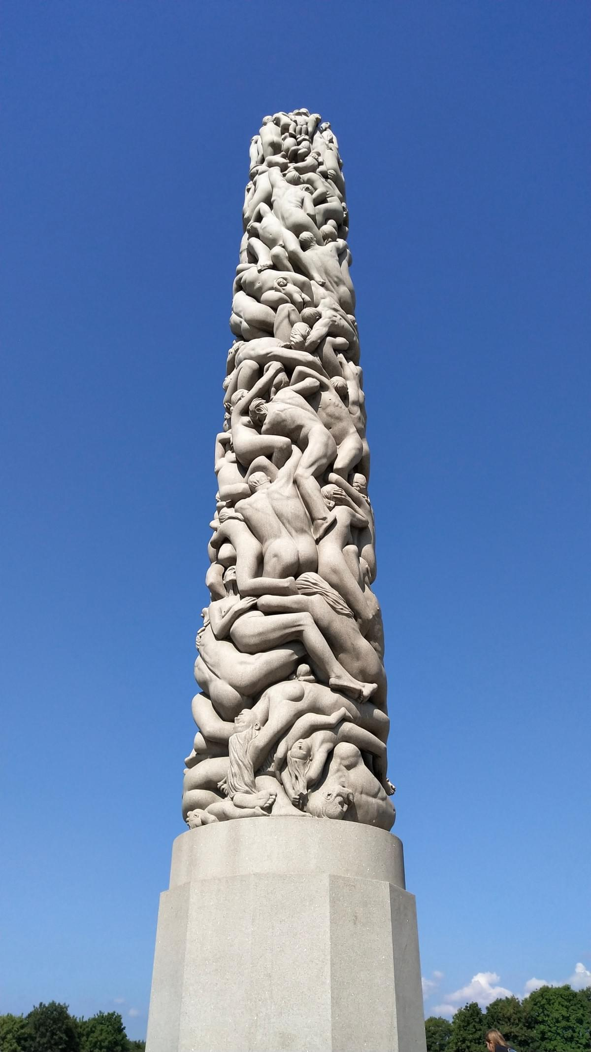 Places to Visit in Oslo - Human Sculpture Obelisk