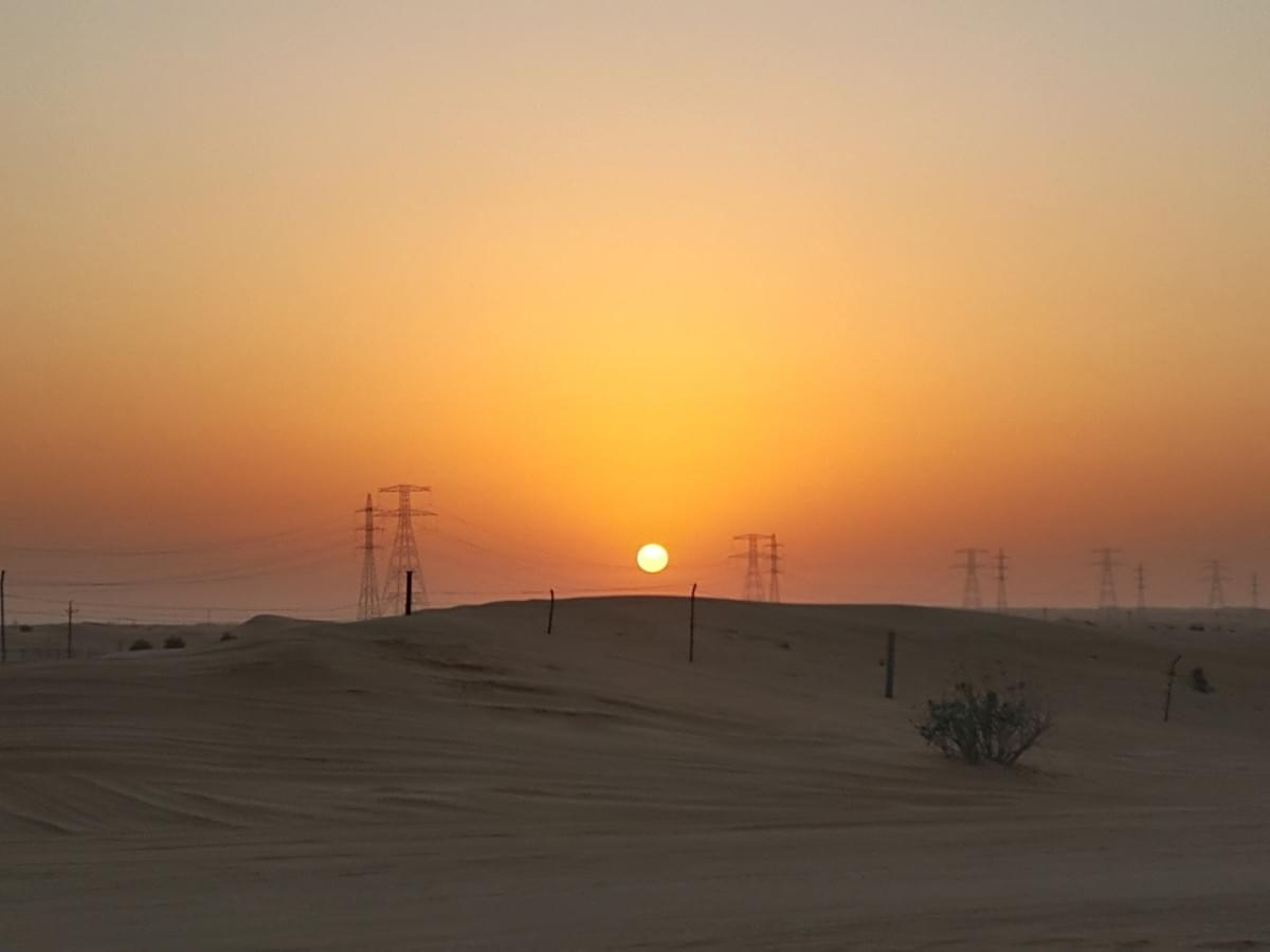 Sunset at Arabian Desert in Dubai - Places to Visit in Dubai