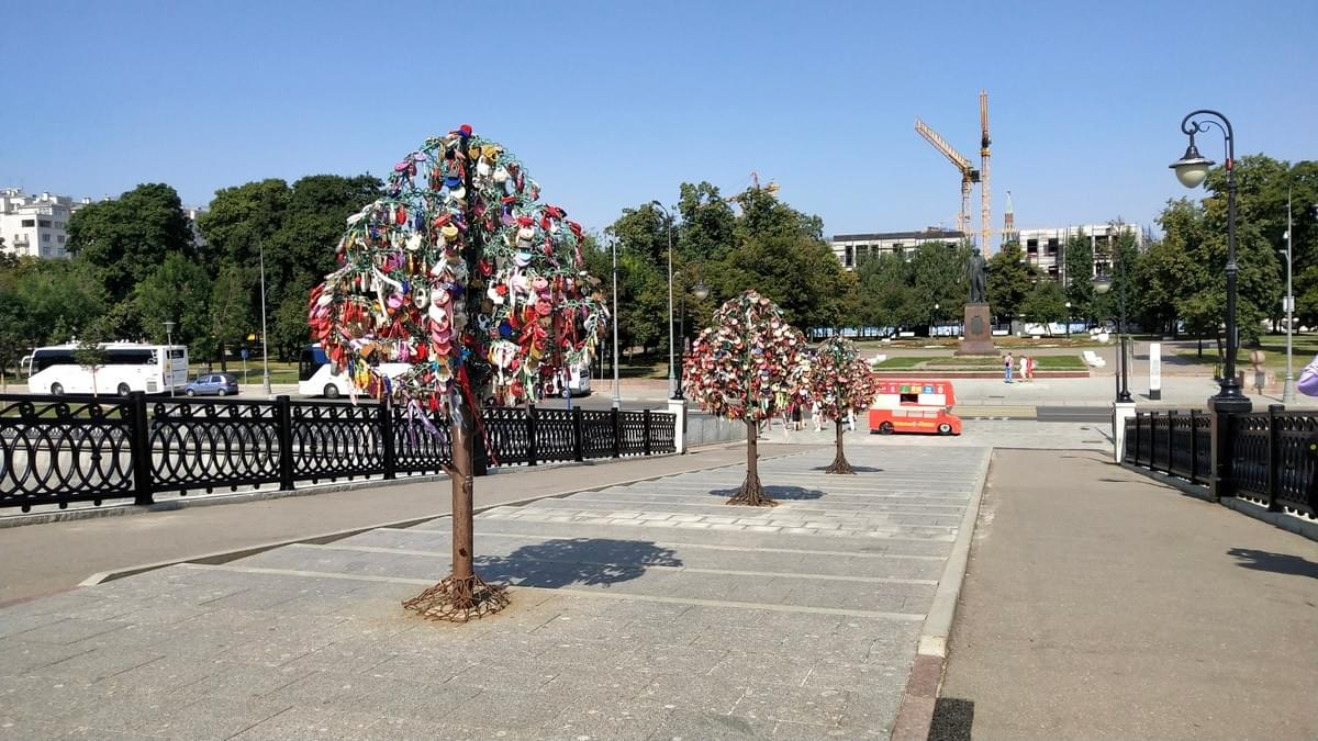 Trees at Love Bridge - Visit Moscow in 2 Days