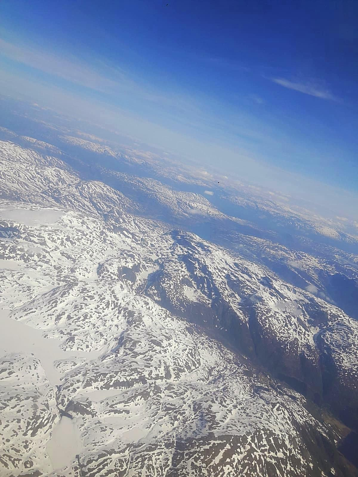 Arriving in Bergen, In Flight View